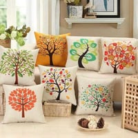 Home Decor 100% Cotton Printed And Embroidered Cushion Covers For Home Decoration