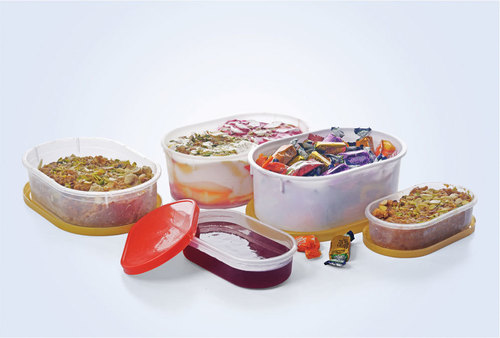 Oval Plastic Container