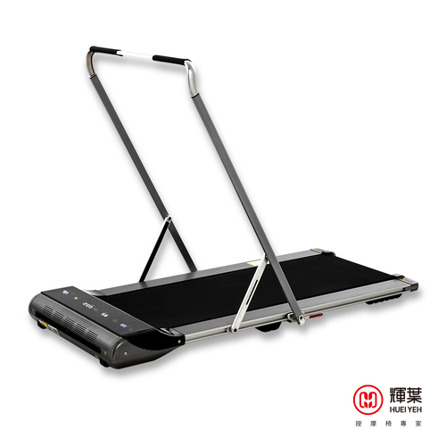 Silvery Aluminum Alloy Walking Pad Treadmill Machine