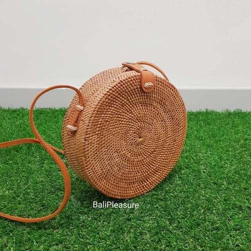 Eco Friendly Summer Rattan Crossbody Bag