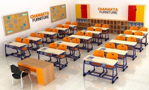 Wooden School Desks - 2 Seater