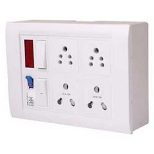 White Electrical Switch Board