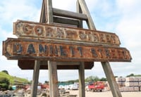 Galvanized Iron Building Signs