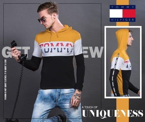 Men's Branded Hooded T-Shirt