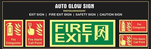 Rectangle Radium Sign Board Application: Industrial