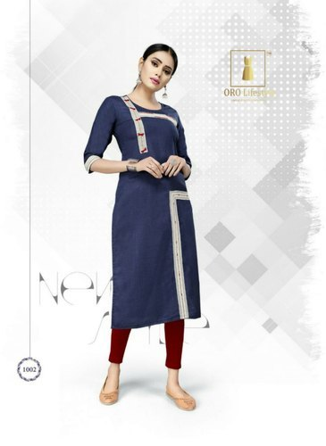 Dark Blue Ladies Kurtis