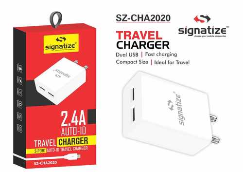 SZ 2020 Signatize Dual USB Fast Charger Travel Adapter 2.4AMP