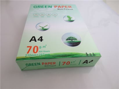 White Color A4 Office Printing Paper Certifications: Iso