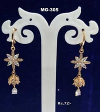 American Diamond Micro Gold Plated Designer Earring