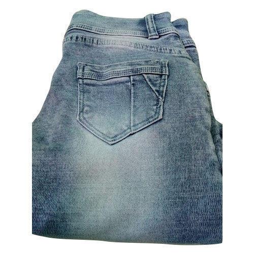Ladies Denim Faded Jeans