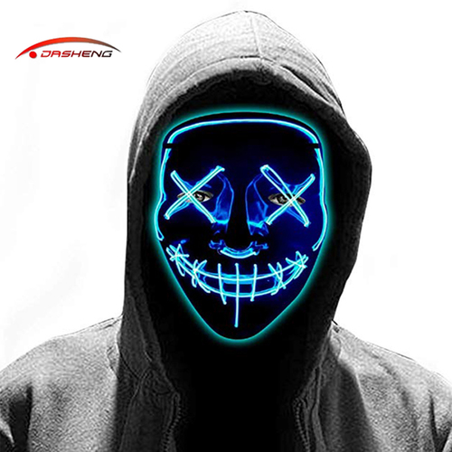 LED El Wire Halloween Party Mask