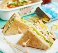 Sliced Cheese Mixed Vegetable Sandwich