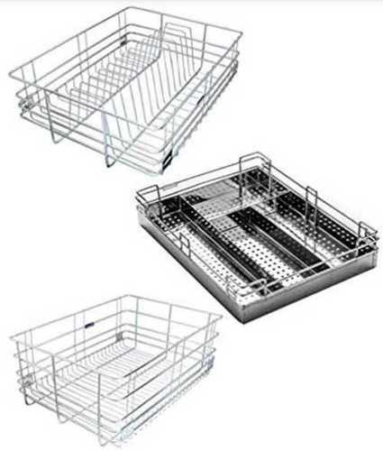 Stainless Steel Modular Kitchen Basket