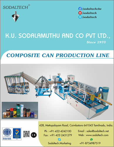 Paper Cans, Packaging Canister, Food Packaging Cans, Composite Containers, Composite Cans Making Machine