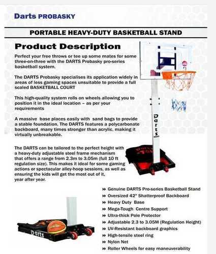 Portable Movable Basketball Post