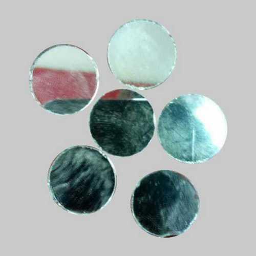 Plain Round White Embroidery Mirrors