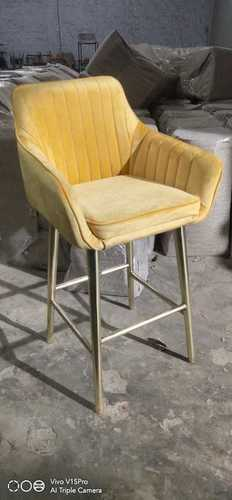 Classic Velvet Seat Iron Base Bar Chair