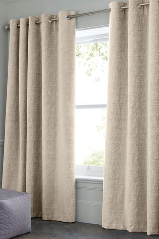 Plain Eyelet Curtains