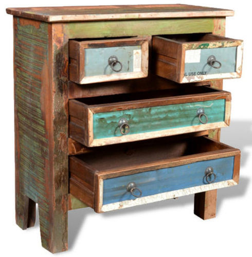 Traditional Solid Wood Reclaimed Night Stand