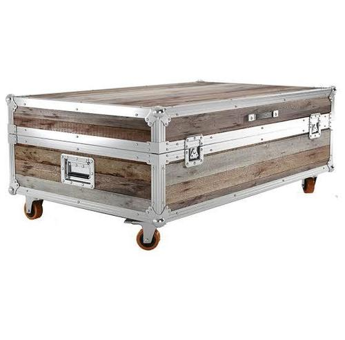 Traditional Wooden And Iron Storage Trunk