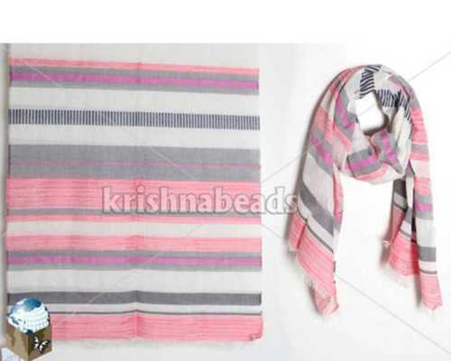 Viscose Striped Printed Shawl