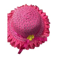 Round Shape Casual Ladies Fashionable Pink Hat