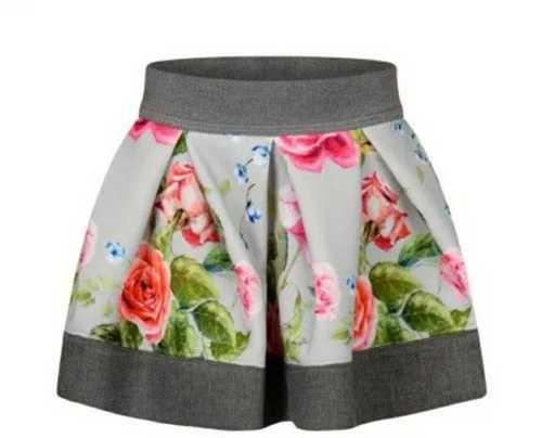 Flower Print Kids Skirt