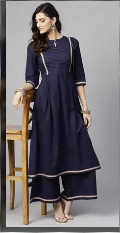 Eye Catching Look Cotton Palazzo Suit