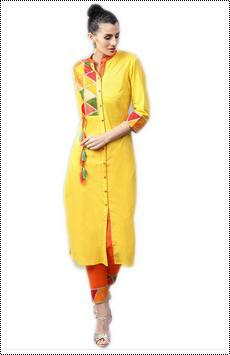 Cotton Ladies Kurta With Trouser