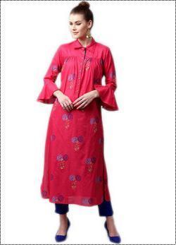 Pink Printed Pathani Ladies Kurta