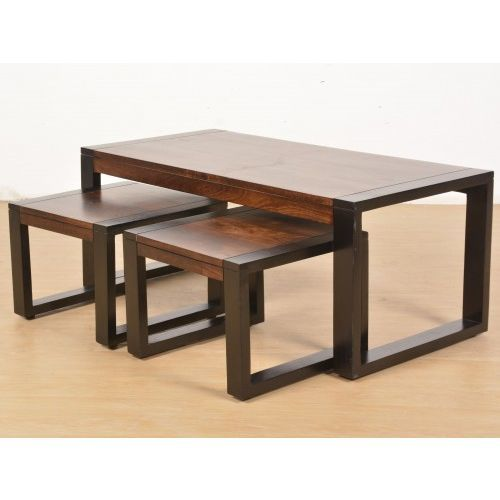 Traditional Solid Wood Dining Table And Stool Set