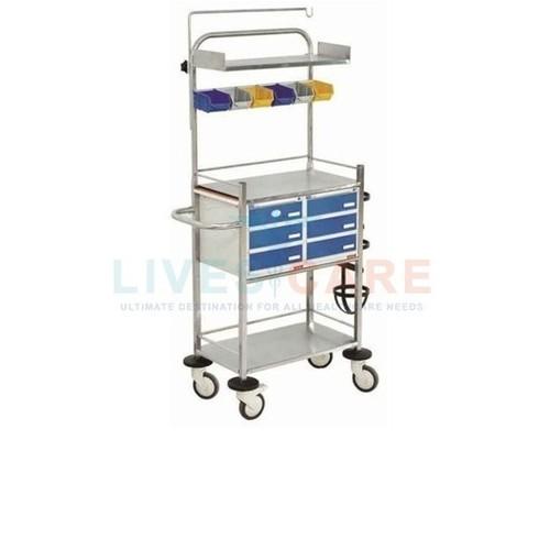 Crash Cart (Resuscitation Trolley) Material: Stainsteel
