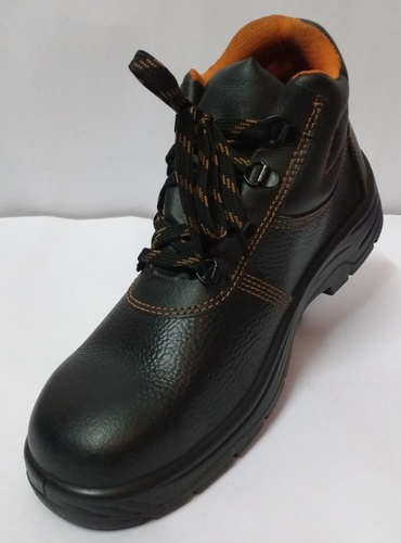 High Ankle Leather Safety Shoes