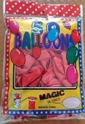 Party Plain Pattern Pink Balloons
