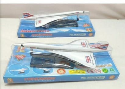 Multi Color Pull Back Type Aeroplane Toy