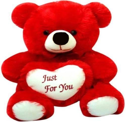 2 Feet Red Teddy Bear With Heart