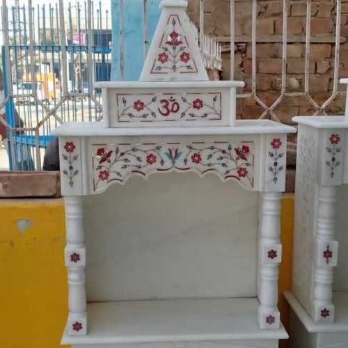 Crafted White Marble Temple