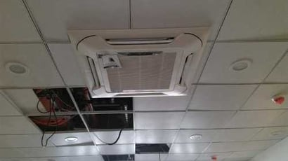 White Electrical Cassette Air Conditioner