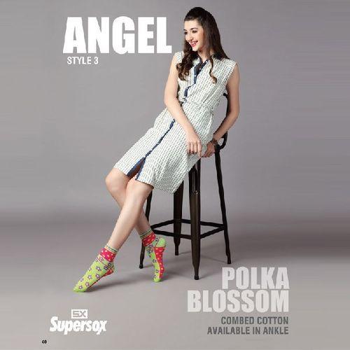 Ladies Polka Blossom Socks