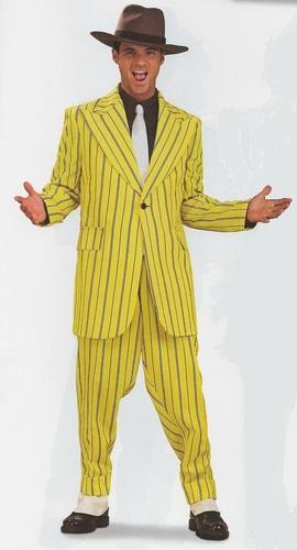 Men Zoot Suit - Yellow