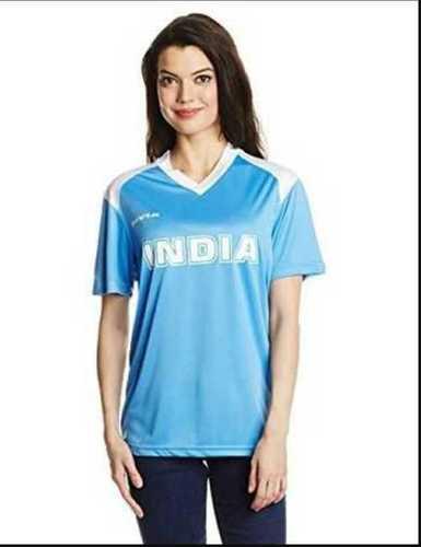 Nivia India Club Small Sky Blue Girls T Shirt