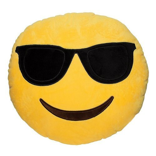 Smile Face Yellow Stuffed Toy