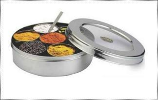 Stainless Steel See Thru Masala Container