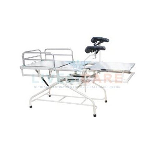 Telescopic Obstetric Labour Table (Fixed Height) Design: Frame