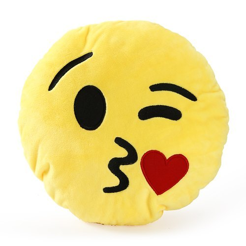Yellow Emotion Face Stuffed Toy