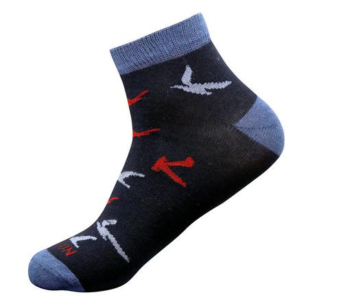 Black Color Men Ankle Sports Socks