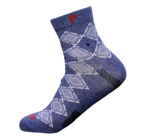 Dark Jeans Blue Men Ankle Socks