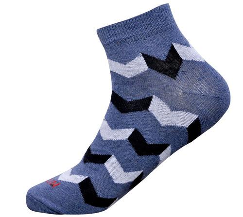 Jeans Blue Color Men Ankle Socks
