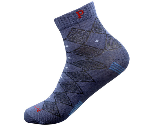 Jeans Blue Color Men Ankle Sports Socks