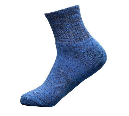 Navy Blue Color Men Ankle Sports Socks